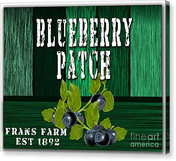 Blueberry Farm Canvas Print by Marvin Blaine