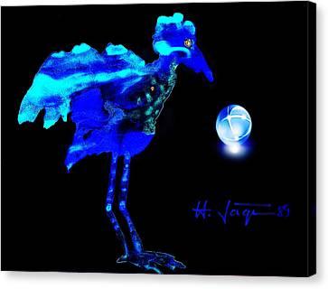 Bluebird Watching Canvas Print by Hartmut Jager