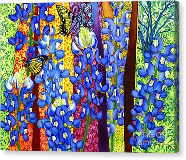 Bluebonnet Garden Canvas Print by Hailey E Herrera