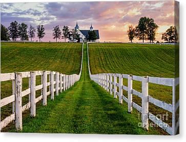 Bluegrass Farm Canvas Print by Anthony Heflin
