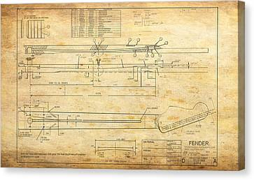 Blueprint For Rock And Roll Canvas Print by GCannon