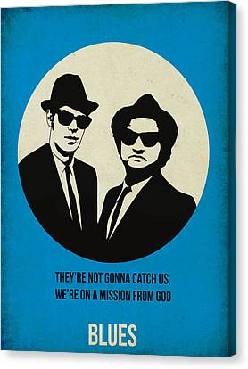 Blues Brothers Poster Canvas Print by Naxart Studio