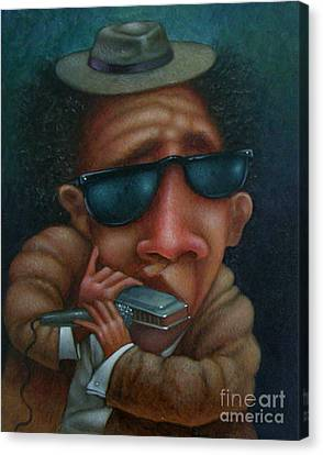 Blues In Hand 2001 Canvas Print by Larry Preston