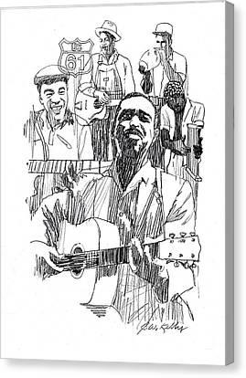 Bluesmen Canvas Print by J W Kelly