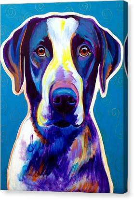 Bluetick Coonhound - Berkeley Canvas Print by Alicia VanNoy Call