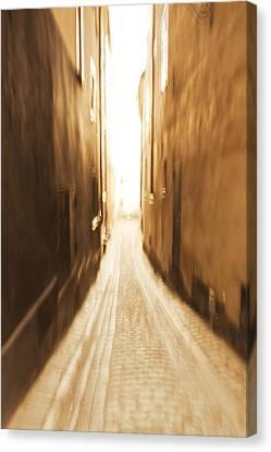 Blurred Alley - Monochrome Canvas Print by Ulrich Kunst And Bettina Scheidulin