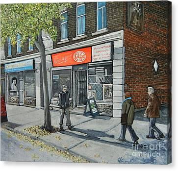 Blvd Monk Ville Emard Canvas Print by Reb Frost