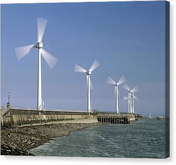 Blyth Harbour Wind Farm Canvas Print by Science Photo Library
