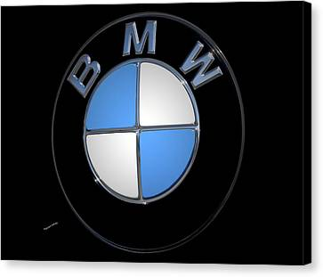 Bmw Emblem Canvas Print by DigiArt Diaries by Vicky B Fuller