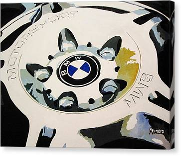 Bmw Ltw Wheel Canvas Print by Indaguis Montoto