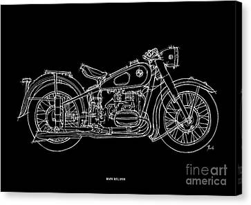 Bmw R51 1958 Canvas Print by Pablo Franchi