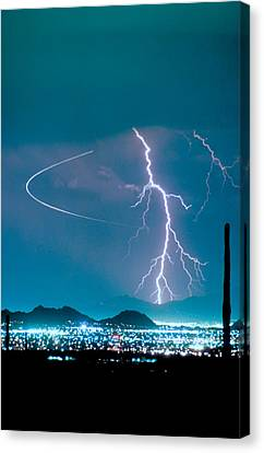 Bo Trek The Lightning Man Canvas Print by James BO  Insogna