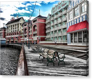 Boardwalk Early Morning Canvas Print by Thomas Woolworth