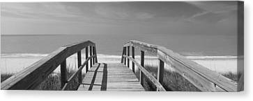 Boardwalk On The Beach, Gasparilla Canvas Print by Panoramic Images