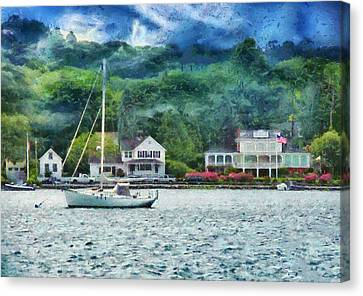 Boat - A Good Day To Sail Canvas Print by Mike Savad