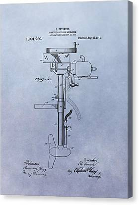Boat Propeller Patent Drawing 1911 Canvas Print by Dan Sproul