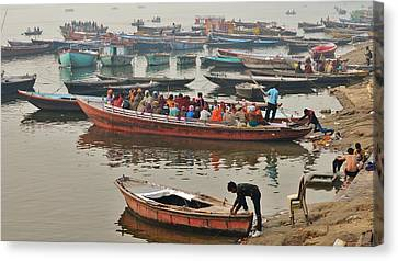 The Journey - Varanasi India Canvas Print by Kim Bemis