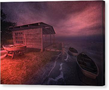 Boathouse Canvas Print by Kylie Sabra