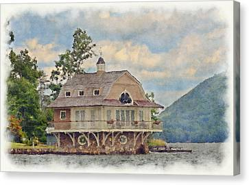 Boathouse  Canvas Print by Susan Leggett