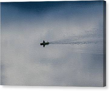Boating Through The Clouds Canvas Print by Omaste Witkowski