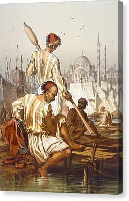 Boatmen, 1865 Canvas Print by Amadeo Preziosi