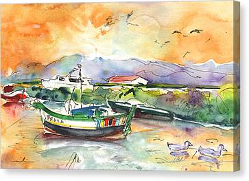Boats In Carrasqueira In Portugal 03 Canvas Print by Miki De Goodaboom