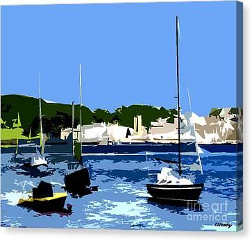 Boats On Strangford Lough Canvas Print by Patrick J Murphy