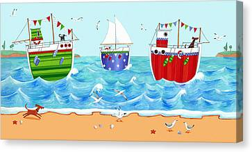 Boats Canvas Print by Peter Adderley