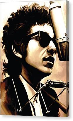 Bob Dylan Artwork 3 Canvas Print by Sheraz A