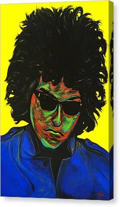 Bob Dylan Canvas Print by Edward Pebworth