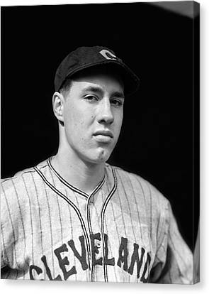 Bob Feller Looking Into Camera Canvas Print by Retro Images Archive