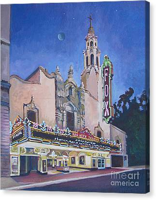 Bob Hope Theatre Canvas Print by Vanessa Hadady BFA MA