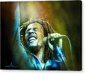 Bob Marley 06 Canvas Print by Miki De Goodaboom