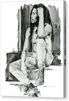 Bob Marley 10 Canvas Print by Bekim Art