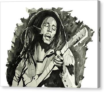 Bob Marley 2 Canvas Print by Bekim Art