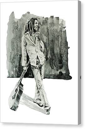 Bob Marley 3 Canvas Print by Bekim Art