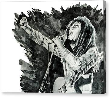 Bob Marley 4 Canvas Print by Bekim Art
