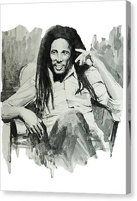 Bob Marley 5 Canvas Print by Bekim Art