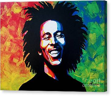 Bob Marley Canvas Print by A Karron