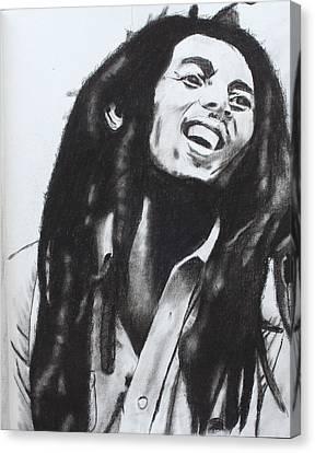 Bob Marley Canvas Print by Aaron Balderas