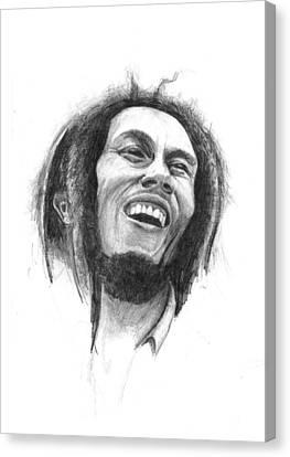 Bob Marley Canvas Print by Allan Swart