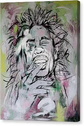 Bob Marley Art Painting Sketch Poster Canvas Print by Kim Wang