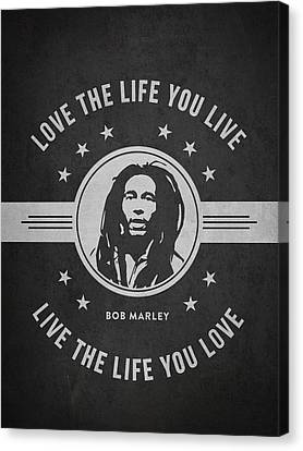 Bob Marley - Dark Canvas Print by Aged Pixel