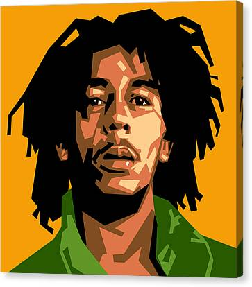 Bob Marley Canvas Print by Douglas Simonson