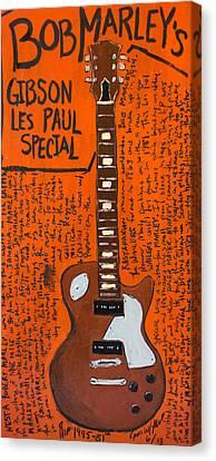 Bob Marley Les Paul Special Canvas Print by Karl Haglund