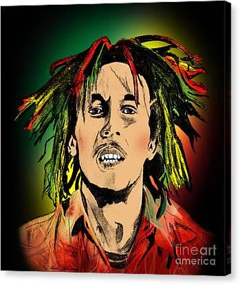 Bob Marley Canvas Print by Mark Ashkenazi