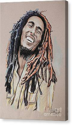 Bob Marley Canvas Print by Melanie D