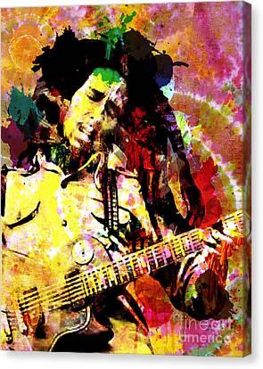 Bob Marley Original Painting Print Canvas Print by Ryan Rock Artist