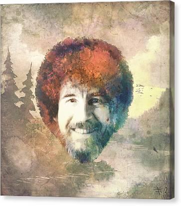 Bob Ross Canvas Print by Filippo B