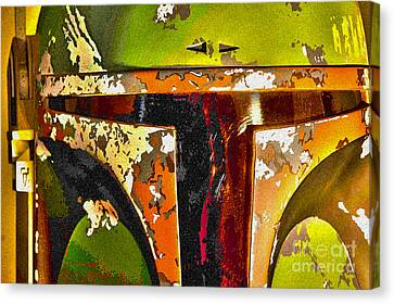 Boba Fett Helmet 13 Canvas Print by Micah May